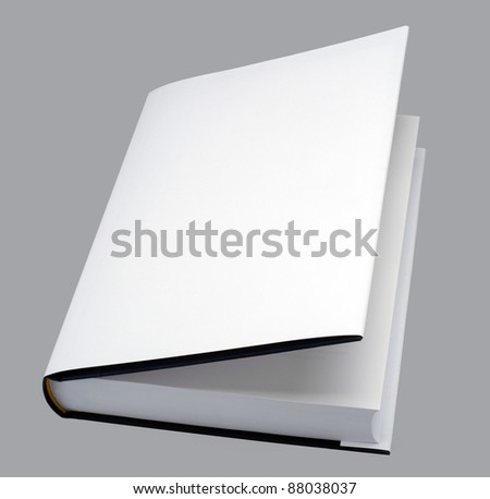 Book - Blank book open with white cover