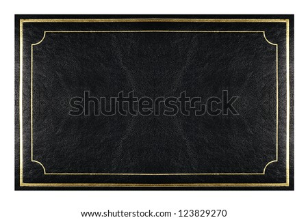 book  cover-black  leather with gold trim