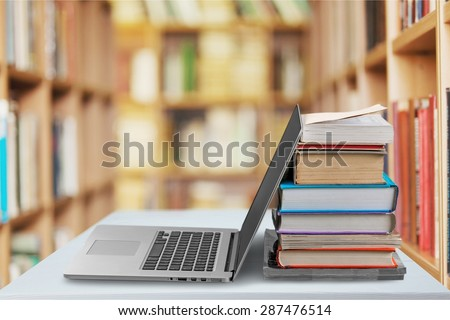 Book, Education, Laptop.