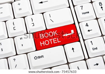 Book hotel key in place of enter key
