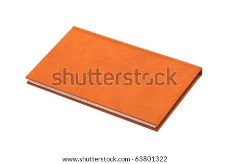 book in a brown cover on a white background