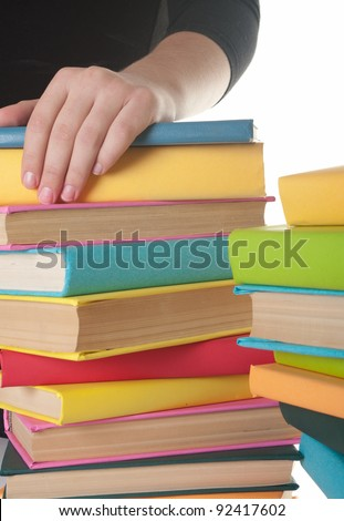 book in the hands of the girl. concept of education