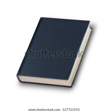 book isolate on white background with clipping path