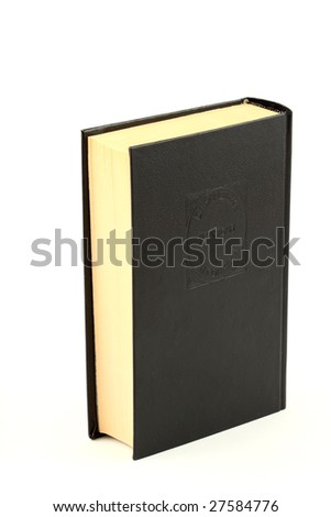 book isolated on white - stock photo