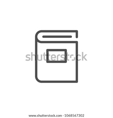 Book line icon isolated on white