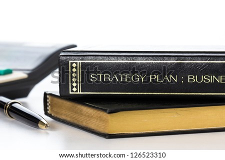 Book of business strategy plan - stock photo