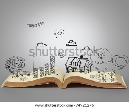 book of fantasy stories - stock photo