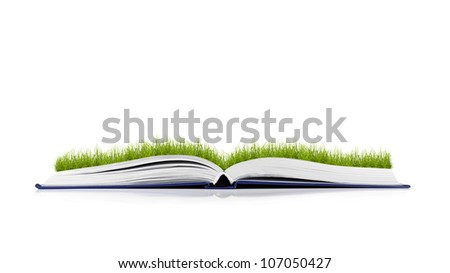 book of nature on white background