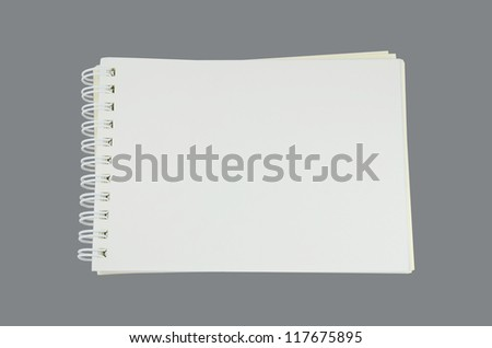 Book on Gray Background