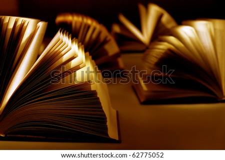 Book on the dark background