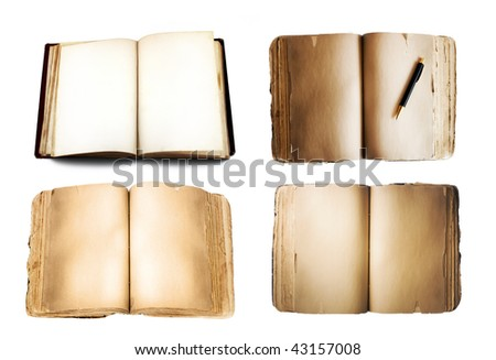 Book. Open and blank.