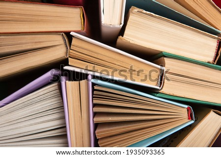 Book pattern background for wisdom, science and education. Reading and writing concept Stockfoto ©