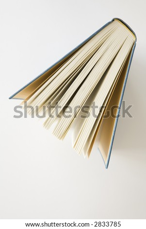 Book photographed from above