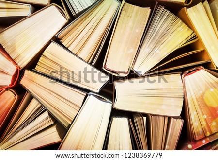 Book pile literature hardback leisure fiction read