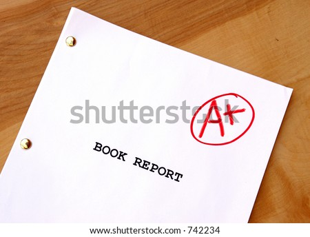 Book Report A-Plus on Desk