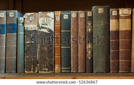 book row close-up