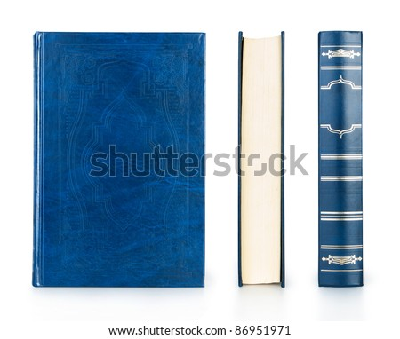 book set blue color isolated on white