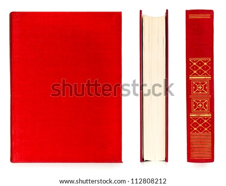 book set red color isolated on...