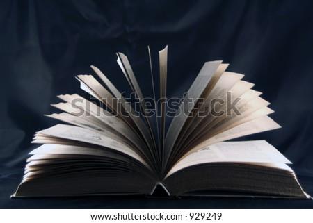 Book Silhouette - stock photo