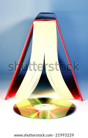 book with a cd - stock photo
