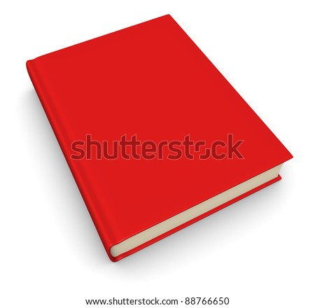 Book with a red cover