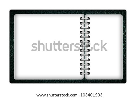 Book with blank pages - stock photo