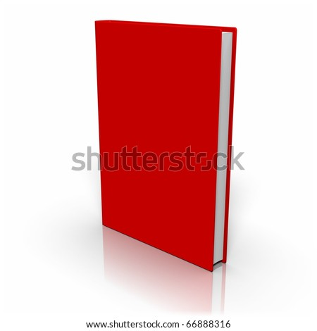 Book with colored cover on white background