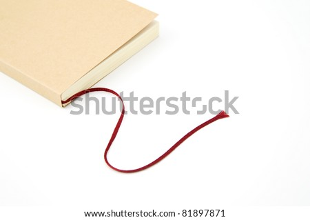 Book with red rope bookmark