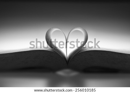 Book with the love shape in mood lighting #256010185