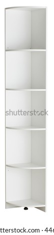 Bookcase isolated on white background. Include clipping path #446516395