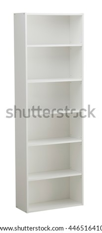 Bookcase isolated on white background. Include clipping path #446516410