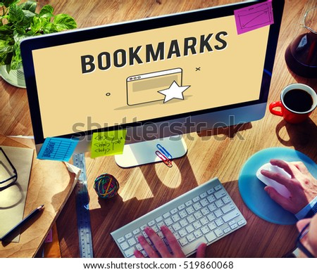 Bookmarks Favorite Internet Social Media Concept