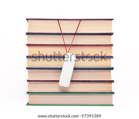 Books and flash drive.