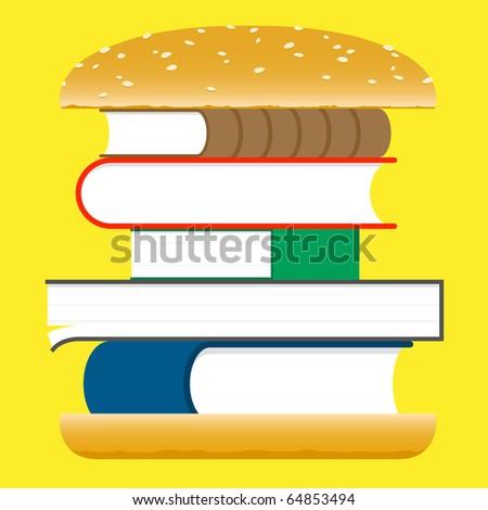 Books hamburger â?? fast food
