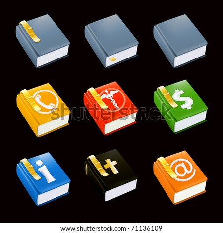 Books icon set, Bitmap copy