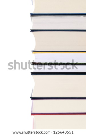 Books in a stack, isolated on white background