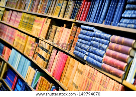 Books in bookshelf