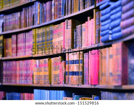 Books in bookshelves