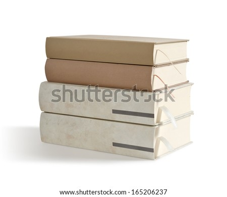 books isolated on a white background. clipping, paths #165206237