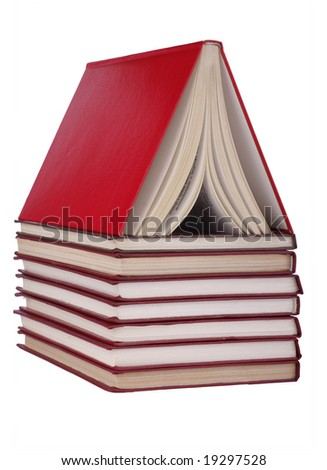 books isolated on the white background