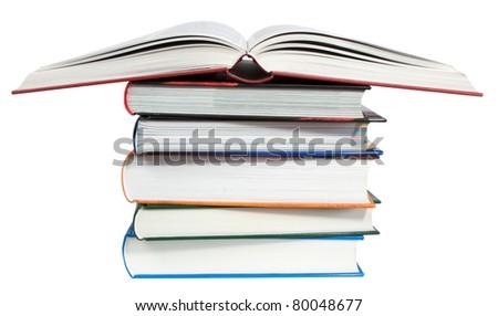 Books isolated on white background.