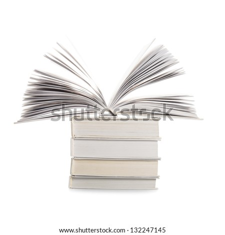 Books isolated on white background, education concept