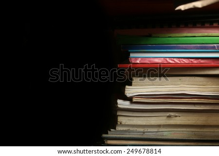 Books,light and shadow