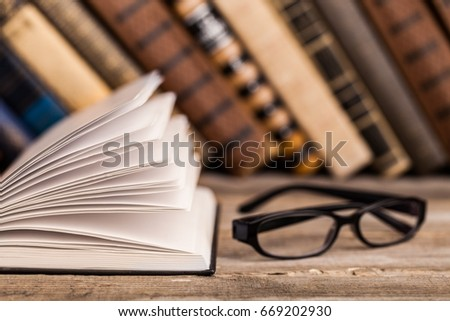 Books on books background. #669202930