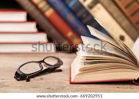 Books on books background. #669202951