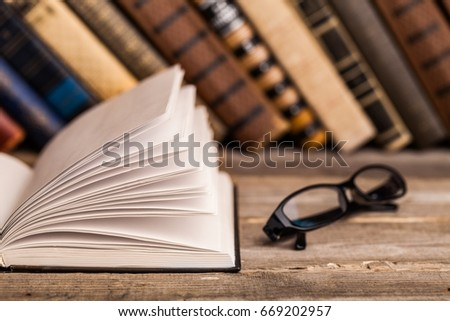 Books on books background. #669202957