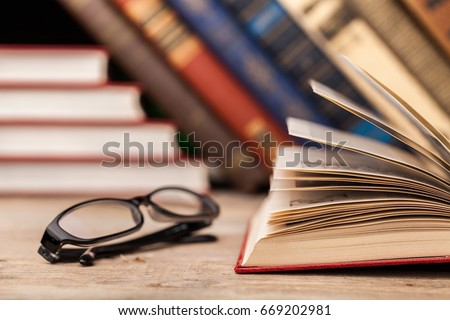 Books on books background. #669202981