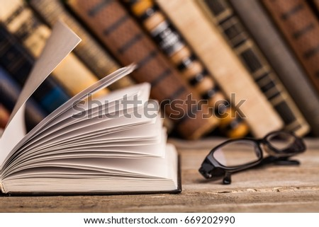 Books on books background. #669202990