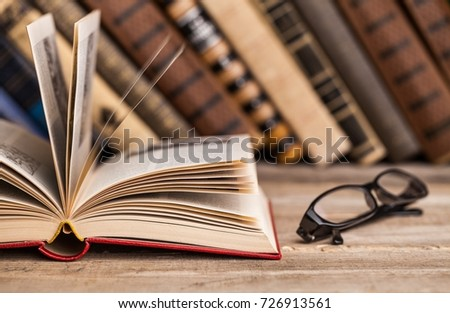 Books on books background. #726913561