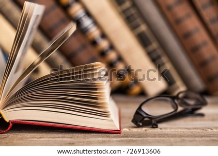 Books on books background. #726913606